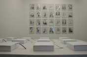 Individual Utopias, installation view, books, drawings, 2008
