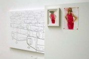 Lights and Warnings, drawings, watercolors, installation view, 2008