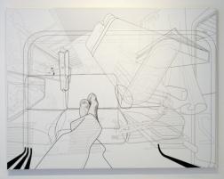 New Work, In Train, print, 130 x 100 cm, 2004