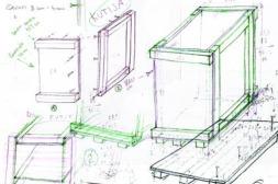 Travel in the Box II, 2009, box sketch