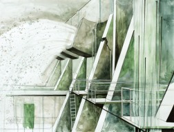 The Dam is Breaking / 2010, 65 x 50 cm, watercolor, marker and pencil on paper