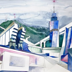 Sarajevo of the Future / 2010, 65 x 50 cm, watercolor, marker and pencil on paper